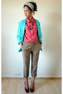 Turquoise-blue-vintage-from-starvintagefashion-blazer-hot-pink-vintage-from-st