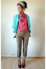 Turquoise-blue-vintage-from-starvintagefashion-blazer-hot-pink-vintage-from-st