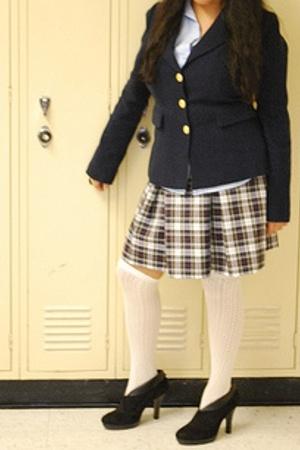 shirt - Forever21 blazer - Goodwill skirt - Nordstrom socks - payless boots