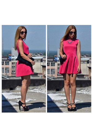 hot pink Sheinside dress