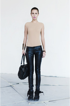 nude maison martin margiela bodysuit - black Bimba&amp;Lola bag