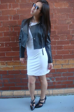 jacket - Bettina Liano dress - Chinese Laundry shoes