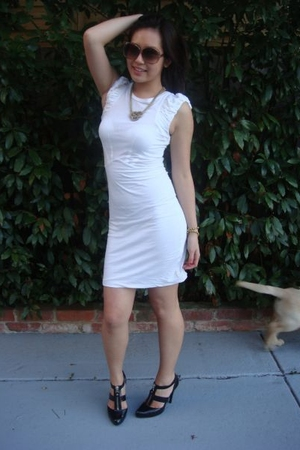 Bettina Liano dress - vintage necklace - Sportsgirl necklace - Chinese Laundry s