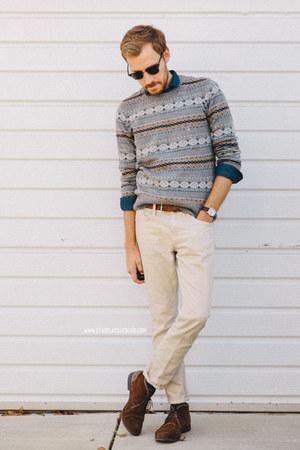 fair isle American Eagle sweater