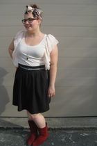 H&M top - Stefanie Bezaire skirt - vintage boots - joe fresh style belt - Amanda