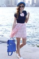bubble gum Tea and Tulips skirt