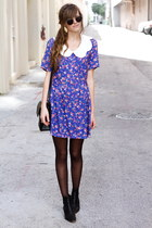 deep purple Tea and Tulips dress
