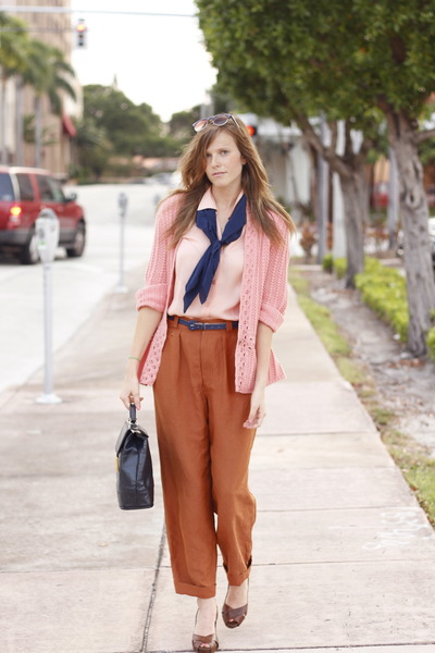 tawny fancy treehouse jeans - bubble gum Tea and Tulips cardigan - pink Tea and