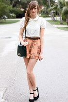 tawny Tea and Tulips shorts - white Tea and Tulips blouse