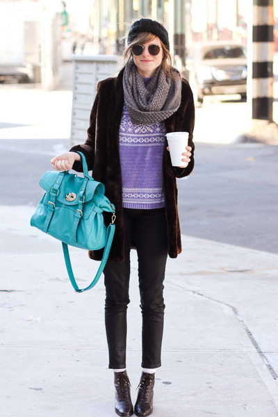 amethyst Tea and Tulips sweater - dark brown Tea and Tulips jacket