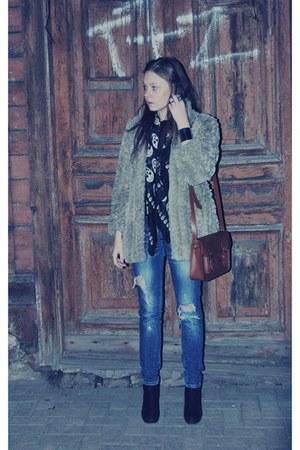 heather gray vintage coat