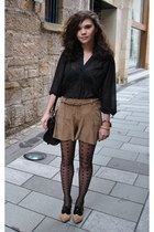 Kurt Geiger heels - Topshop tights - Mulberry bag - Topshop shorts - Topshop top