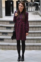 Monki dress - Mulberry bag