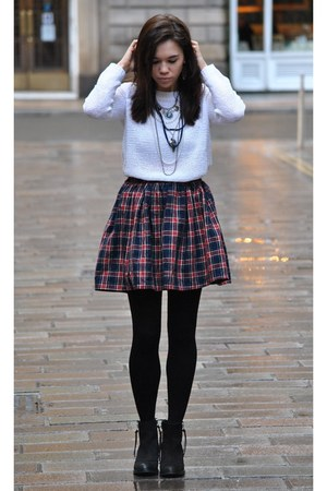 American Apparel skirt - Topshop boots - H&M Trend jumper