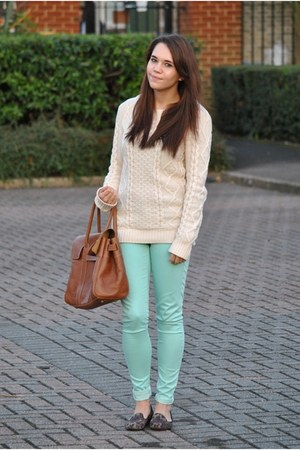 Primark jumper - Mulberry bag - Topshop pants