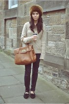 Mulberry bag - Topshop jeans - Author loafers - H&M jumper