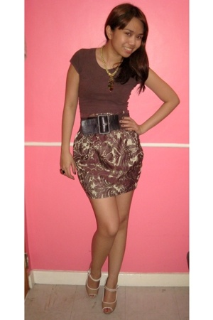 Topshop shirt - bazaar find skirt - Charles &amp; Keith shoes