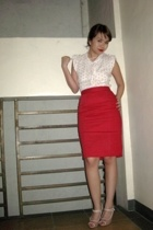 bazaar find blouse - own creation skirt - Charles & Keith shoes