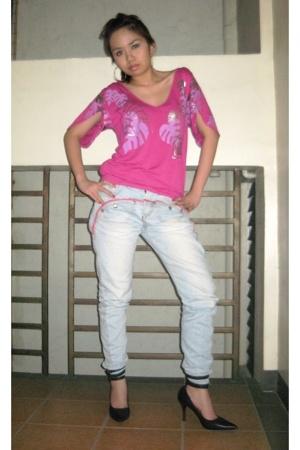 Mango top - jeans - Tyler