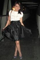 top - own creation skirt - Schu shoes