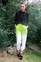 chartreuse ombre neon asos pants - black knitted Jumper jumper