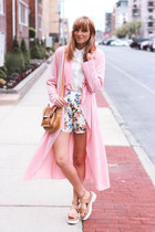 bubble gum Boohoo coat
