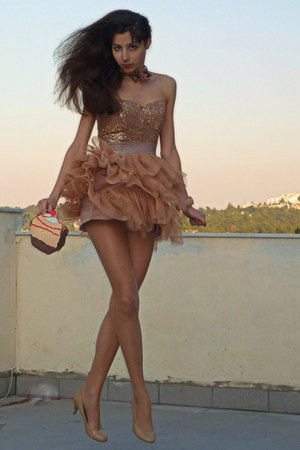 nude cupcake DIY bag - peach sequin tulle Tell Her You Saw Me dress
