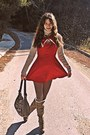 Brick-red-romwe-dress-light-brown-boots-light-brown-tights
