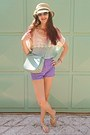 Aquamarine-bag-amethyst-oasap-shorts-aquamarine-sandals