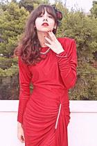 red vintage Etsy dress