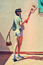 Camel-longchamp-bag-light-blue-zara-shorts-brown-polaroid-sunglasses-camel