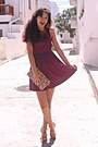 Maroon-heart-hex-effex-dress-neutral-floral-accessorize-bag