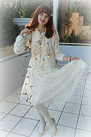 cream snowflake foymall jumper - cream Calzedonia tights