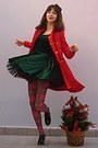 Black-creepers-oasap-shoes-green-velvet-chicwish-dress-red-coat