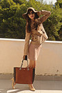 Camel-stradivarius-jacket-nude-dorothy-perkins-dress-camel-h-m-hat
