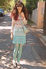 Ivory-oxford-lace-chicwish-shoes-aquamarine-tights-aquamarine-lulus-bag