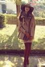 Camel-romwe-cape-burnt-orange-h-m-boots-nude-dorothy-perkins-dress