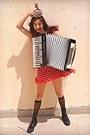 Red-polka-dot-ax-paris-dress-black-boots-black-socks