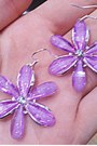Light-purple-flower-koogul-earrings-black-boots