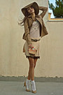 Camel-h-m-hat-camel-stradivarius-jacket-nude-cupcake-diy-purse