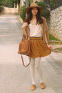 Cream-sequin-collar-chicwish-blouse-camel-oxford-topshop-shoes-camel-hat