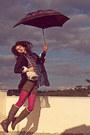 Magenta-jacquard-romwe-jumper-light-brown-boots-magenta-new-look-tights