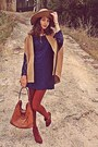 Burnt-orange-tights-burnt-orange-h-m-boots-navy-lace-zara-dress