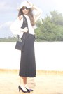 Hat-kem-purse-stradivarius-vest-american-apparel-blouse-heels-jupe-cul