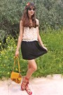 White-daisy-diy-necklace-dark-khaki-printed-collar-dress-mustard-lulus-bag