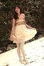 Gold-vintage-dior-shoes-cream-tell-her-you-saw-me-dress-cream-tights