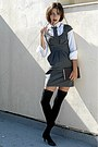 Heather-gray-stradivarius-dress-black-knee-high-socks-navy-tie