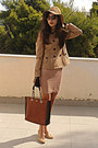 Camel-h-m-hat-nude-dorothy-perkins-dress-camel-stradivarius-jacket