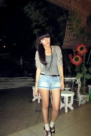 Charles & Keith shoes - Daiso socks - Zara shorts - unbranded cardigan - cotton