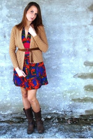brown Mind Over Matter by Stephanie Geisler cardigan - pink Mind Over Matter by